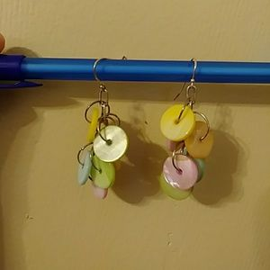 Dangling Shell Earrings Handmade